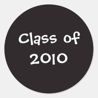 Schwarzes, Klasse von Aufkleber 2010