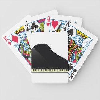 schwarzes Klavier Bicycle Spielkarten