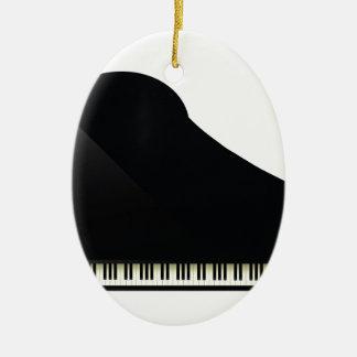 schwarzes Klavier Keramik Ornament