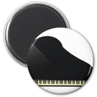 schwarzes Klavier Runder Magnet 5,1 Cm