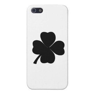 Schwarzes Kleeblatt-glückliche Iren   iPhone 5 Case