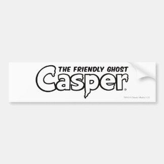 Schwarzes Kontur-Logo Caspers Autoaufkleber