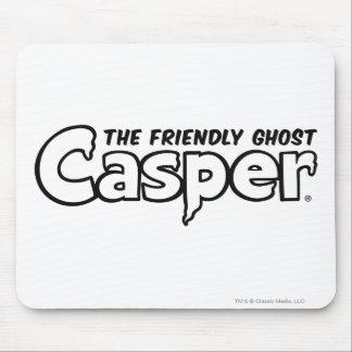 Schwarzes Kontur-Logo Caspers Mousepad