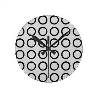 Schwarzes Kreis-Silber Runde Wanduhr