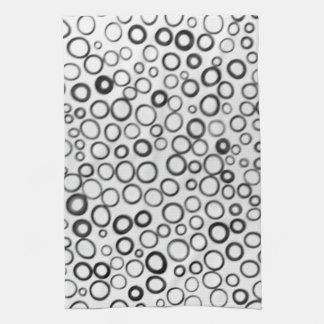 Schwarzes kreist kleine Blasen-Geschirrtücher ein Handtücher