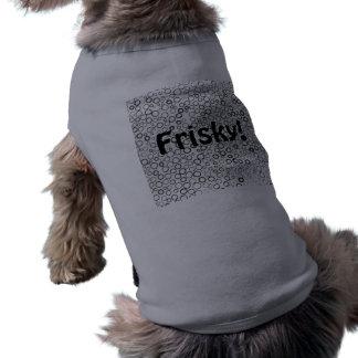 Schwarzes kreist kleinen Blasen-Haustier-T - Shirt Hundetshirt