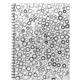 Schwarzes kreist kleines Blasen-Notizbuch ein