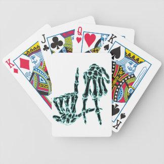 schwarzes La Bicycle Spielkarten