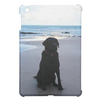 Schwarzes Labrador auf einem Strand iPad Mini Hülle