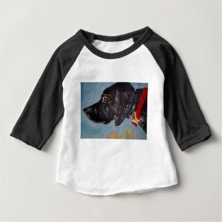 schwarzes Labrador Baby T-shirt