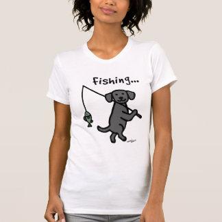 Schwarzes Labrador-Fischer-T-Shirt T-Shirt