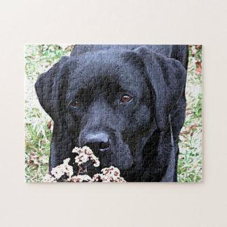 Schwarzes Labrador - nehmen Sie Zeit Puzzle