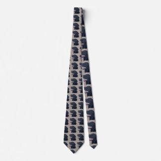Schwarzes Labrador Personalisierte Krawatte