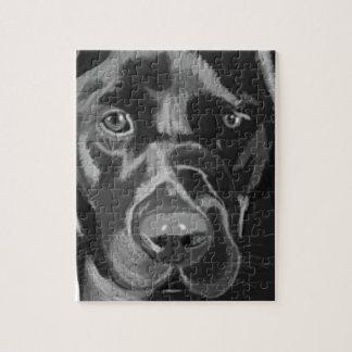 Schwarzes Labrador Puzzle