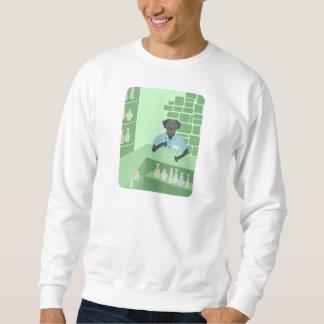 Schwarzes Labrador-Retriever-Martini-Bar Sweatshirt