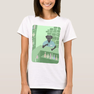 Schwarzes Labrador-Retriever-Martini-Bar T-Shirt
