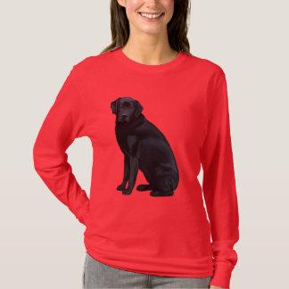 Schwarzes Labrador retriever-Porträt T-Shirt