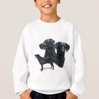 Schwarzes Labrador retriever Sweatshirt