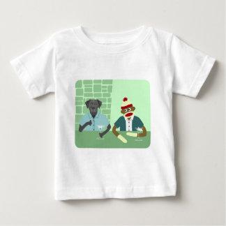 Schwarzes Labrador retriever u. Socken-Affe Baby T-shirt