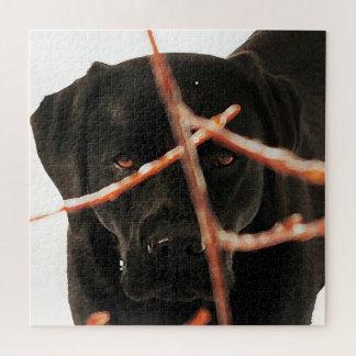 Schwarzes Labrador - Spähen der Niederlassungen Puzzle
