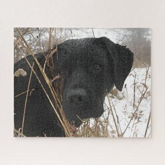 Schwarzes Labrador - Spätsaisonjagd Puzzle