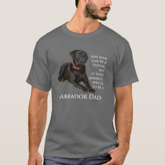 Schwarzes Labrador-Vati-Shirt T-Shirt