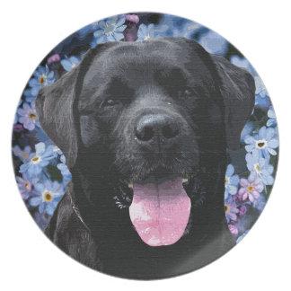 Schwarzes Labrador - vergessen Sie mich nicht Teller