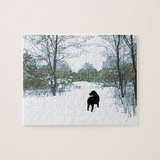 Schwarzes Labrador-Zitat - Schätze Puzzle