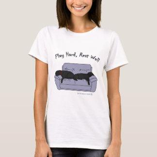 schwarzes Labradorspiel stark T-Shirt