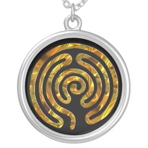 Schwarzes Labyrinth GOLD | Personalisierter Schmuck