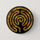 Schwarzes Labyrinth GOLD | Runder Button 5,7 Cm