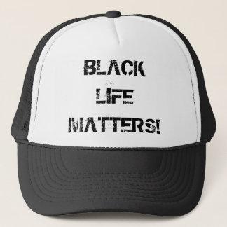 Schwarzes Leben ist Fernlastfahrer-Hut von Truckerkappe