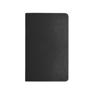 Schwarzes ledernes Beschaffenheits-Notizbuch klein Taschennotizbuch