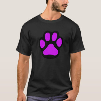 Schwarzes lila Tatzent-shirt T-Shirt