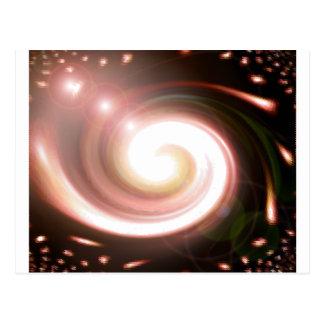 schwarzes Loch des Supernovas Postkarte