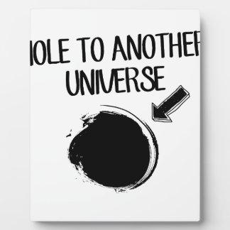 Schwarzes Loch Fotoplatte