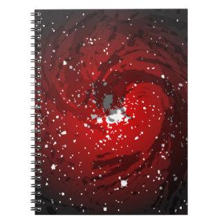 Schwarzes Loch-Hintergrund Notizblock
