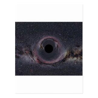 Schwarzes Loch-Milchstraße Postkarte