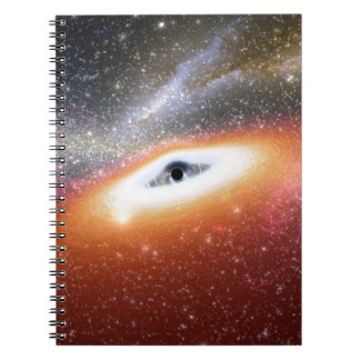 schwarzes Loch Spiral Notizblock