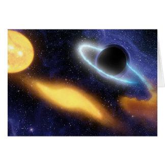Schwarzes Loch und Stern Karte
