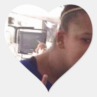 Schwarzes Mädchen welches meme Herz-Aufkleber