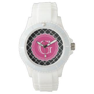 Schwarzes marokkanisches armbanduhr