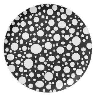 Schwarzes Meer der Blasen-Platte Flacher Teller