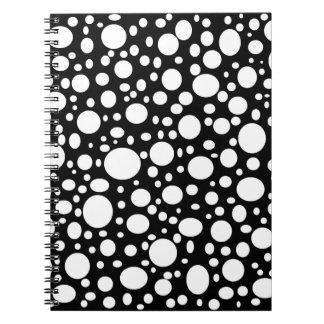 Schwarzes Meer des Blasen-Notizbuches Notiz Buch