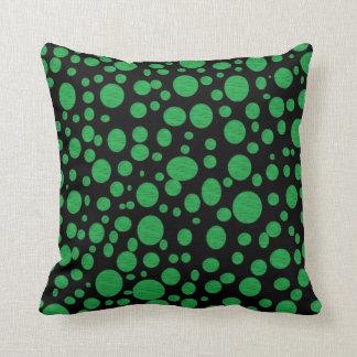 Schwarzes Meer des grünen Blasen-Kissens Kissen