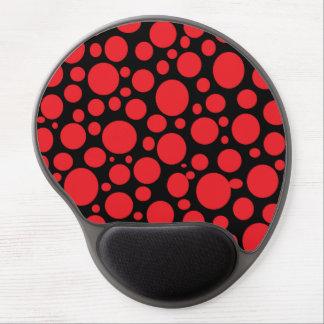 Schwarzes Meer des roten Blasen-Gels Mousepad Gel Mouse Pad