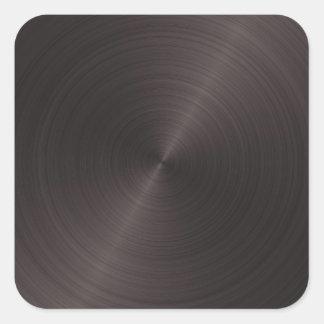 Schwarzes Metall Quadratischer Aufkleber