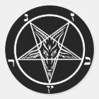 schwarzes Metall, baphomet, Lord von Dunkelheit! Runder Aufkleber