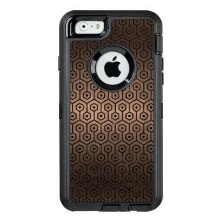 SCHWARZES METALL DES MARMOR-HEXAGON1 U. DER BRONZE OtterBox iPhone 6/6S HÜLLE