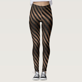 SCHWARZES METALL DES MARMOR-STRIPES3 U. DER BRONZE LEGGINGS